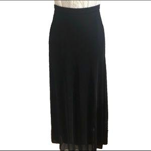 Tadashi Maxi Skirt Flowy Black